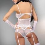 Erotický kompet LivCo Corsetti Orna - košilka, string kalhotky, rukavice