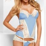 Romantický modro-bílý sexy korzet  Avanua Eden