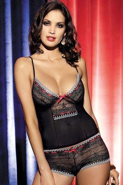 Sexy souprava Showgirl top + kalhotky šortky