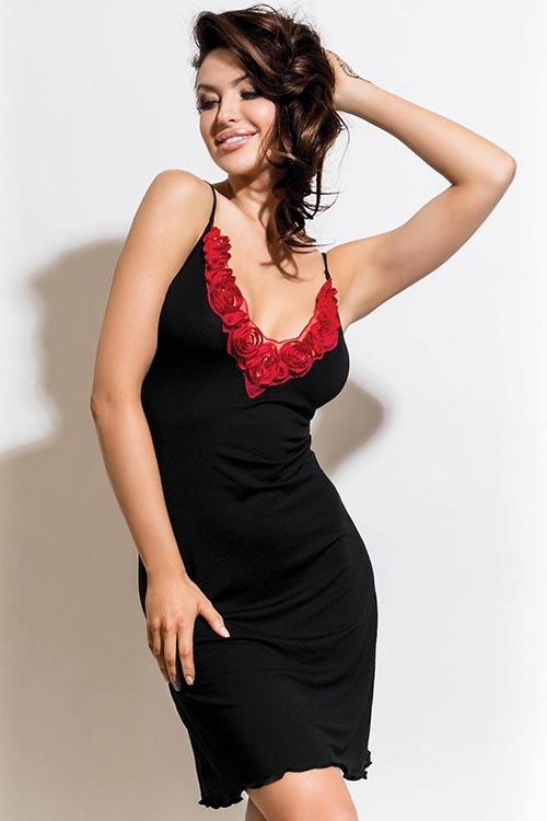 Luxusní dámská košilka Rozalia - Black