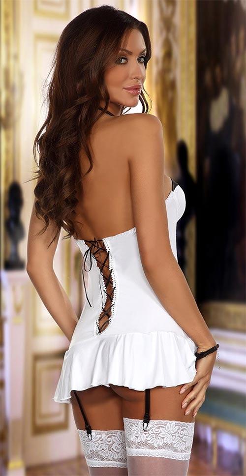 Černobílé erotické šaty