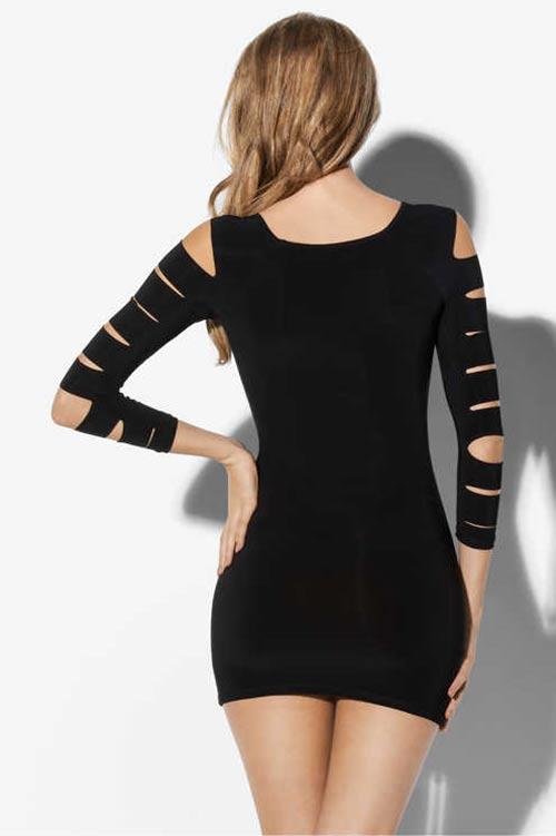Elegantní černé minišaty