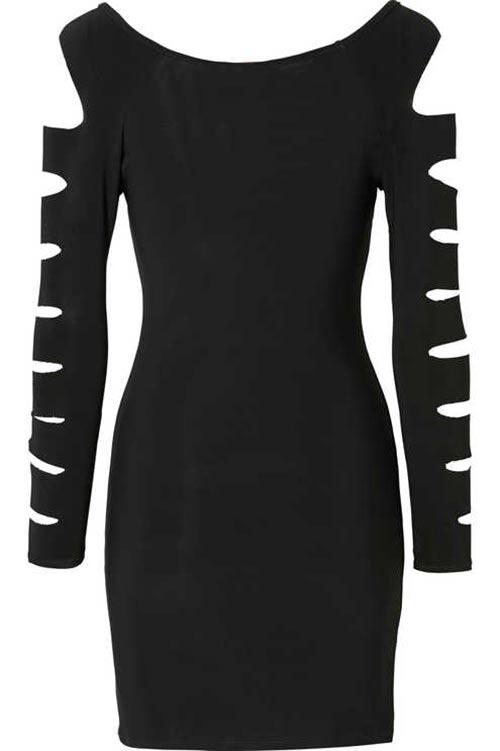 Mini šaty s laserovými průstřihy