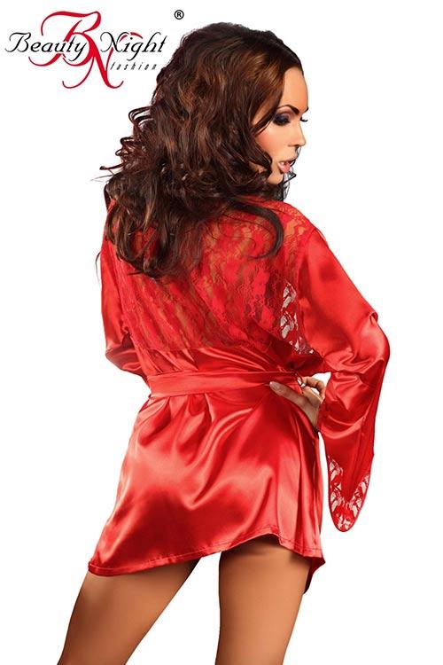 Červený sexy župan
