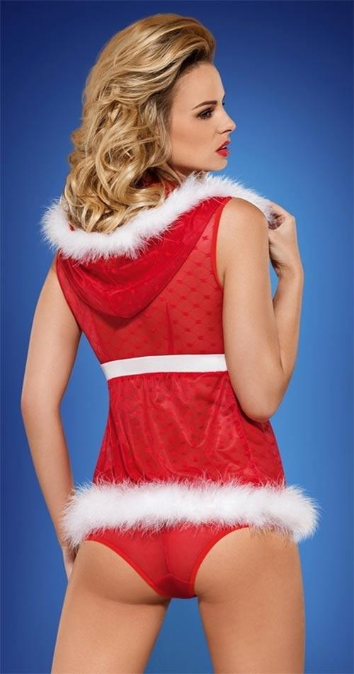 Erotický vánoční kostým a kalhotky
