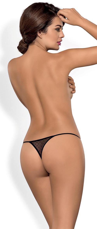 Krajkové černé tanga kalhotky