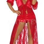 Dlouhý župan Electra ve vášnivě červené barvě