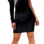 Mini šaty na jedno rameno BOOHOO