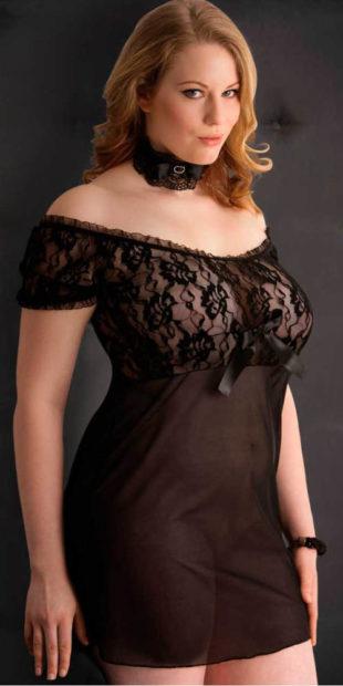 Erotické košilkové šaty pro plnoštíhlé