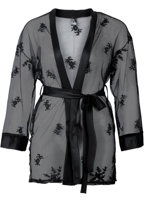 Krajkové kimono s širokými rukávy