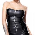 Žhavé dámské šaty s celorozpínacím předním dílem na zip