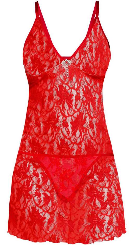 Červené dámské negližé