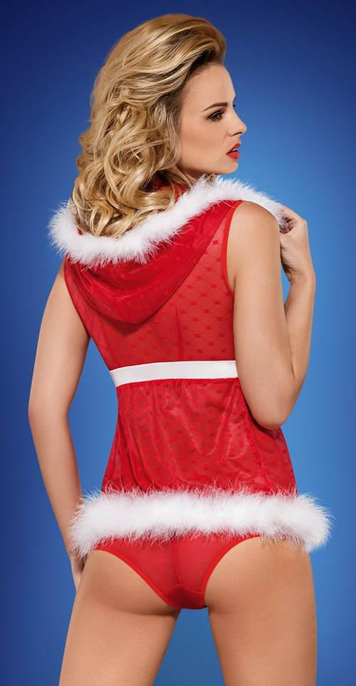 Sexy vánoční kostým - kalhotky a kabátek