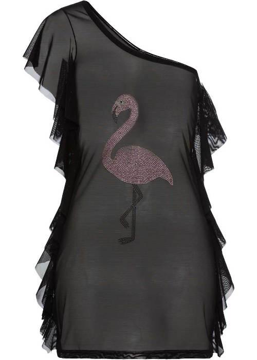 Průhledné šaty na jedno rameno