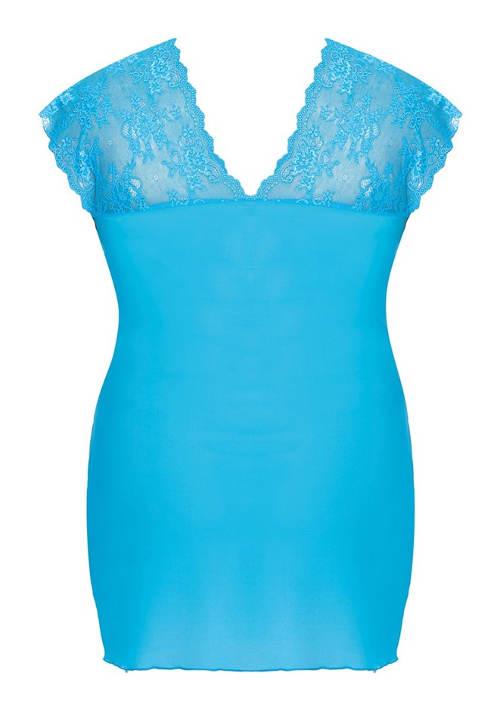 Modrá krajková dámská košilka
