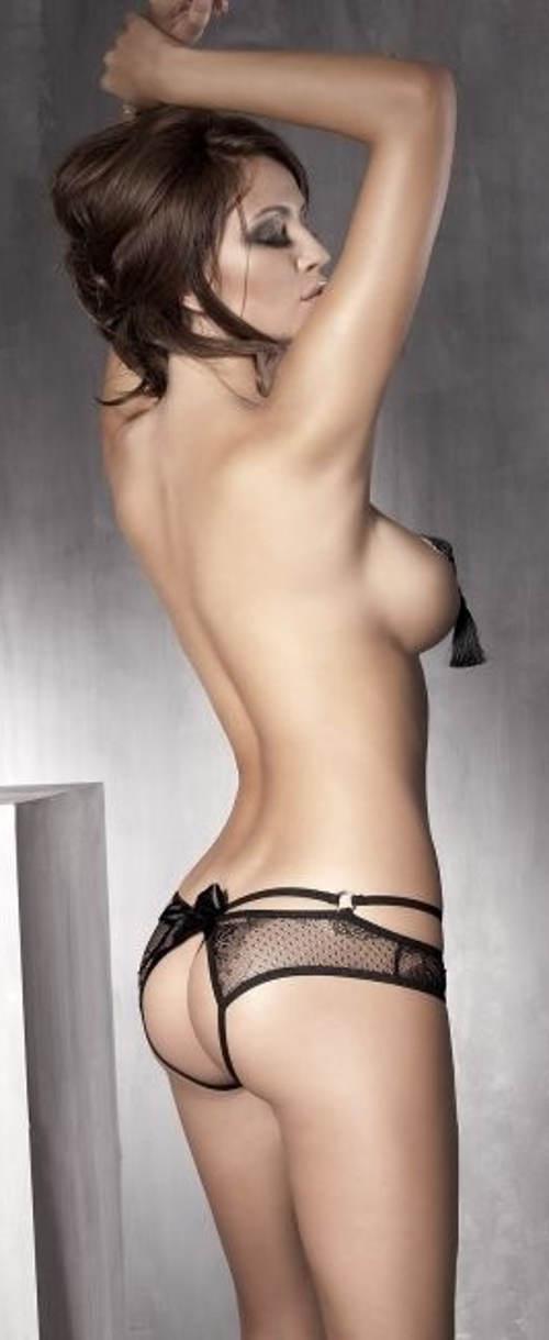 Erotické kalhotky s otevřeným zadkem