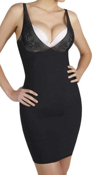 Černá stahující košilka pod plesové šaty