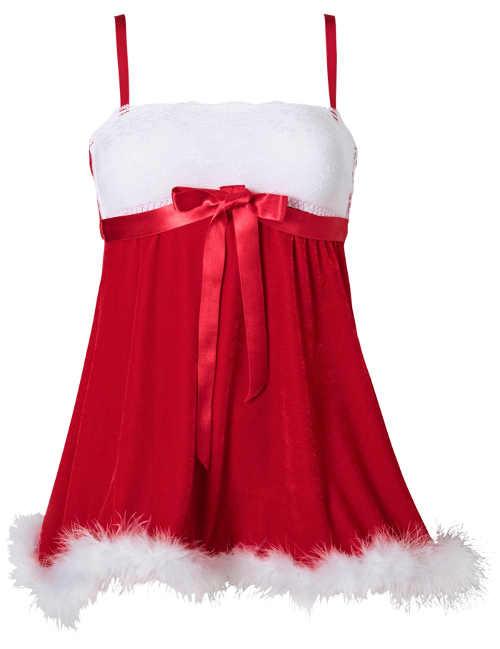 Sexy vánoční košilka s kožíškemSexy vánoční košilka s kožíškem