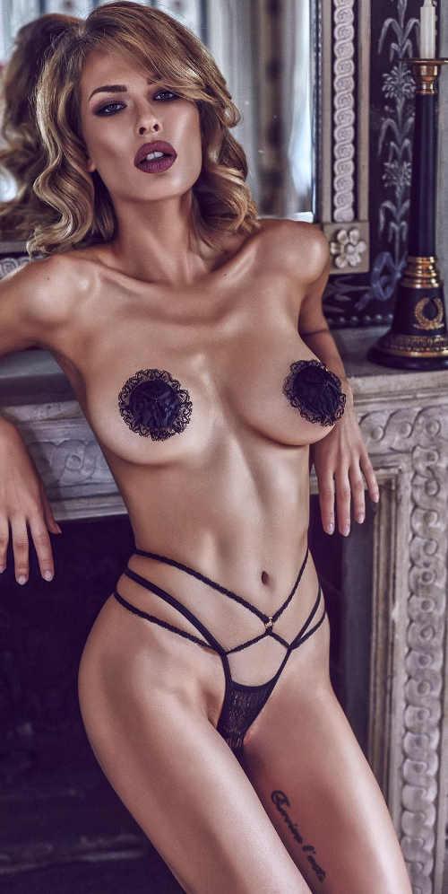 Otevřené erotické kalhotky z háčkované krajkyOtevřené erotické kalhotky z háčkované krajky
