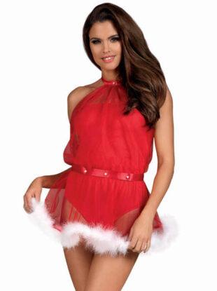 Sexy nezbedný kostýmek Santa Lady ve svůdně červené