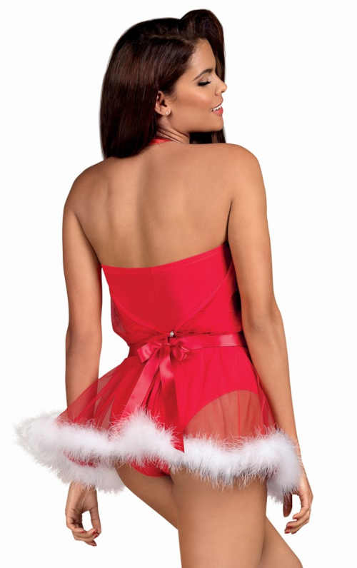 červený kostým Santa Lady