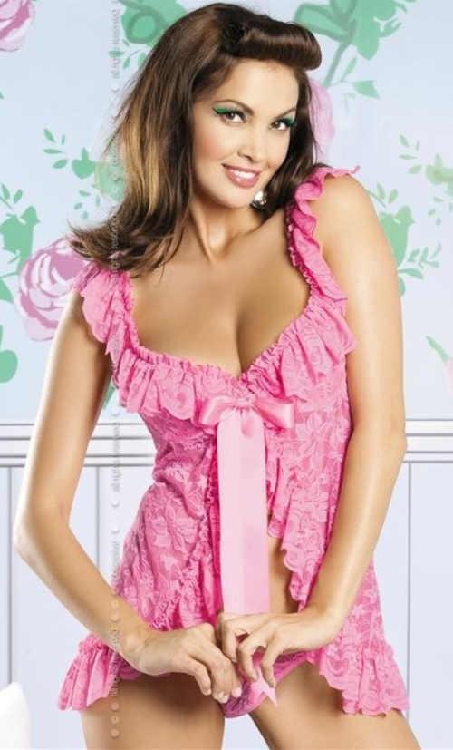 sexy krajková dámská krátká košilka